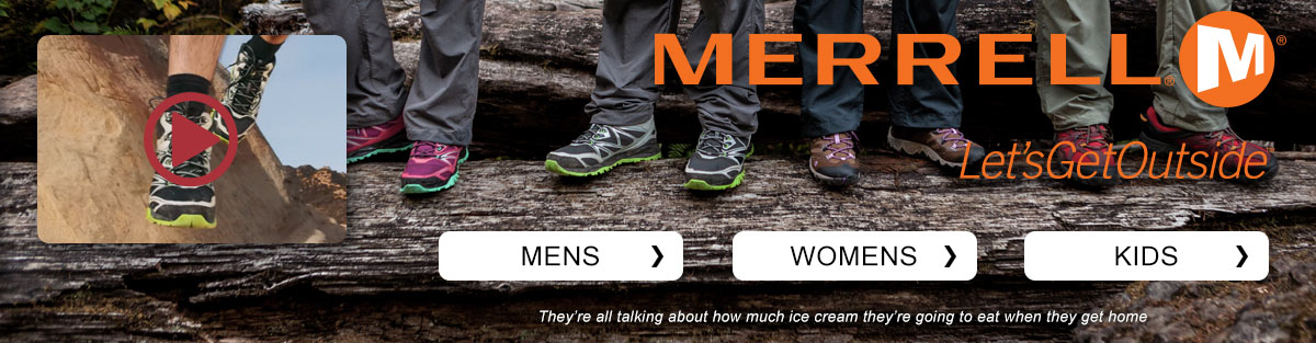 Merrell footwear and apparel
