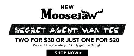 Moosejaw Men's Secret Agent Man Short Sleeve Tee