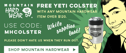 Free YETI Colster with Mountain Hardwear Items Over $120