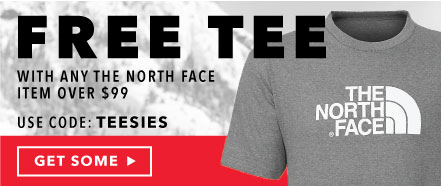 Free Tee with The North Face items over $99