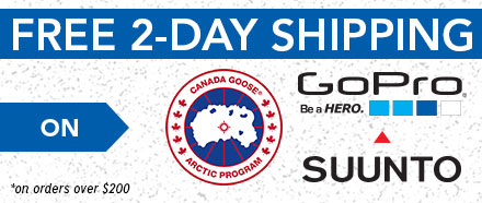 Get FREE2-Day Shipping on orders over $200 from Canada Goose, GoPro, and Suunto.