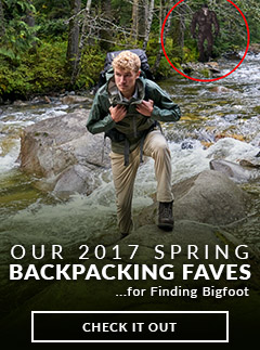 Moosejaw's Spring Backpacking and Hiking Faves for Finding Bigfoot