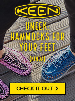 Keen Uneek Sandals. Hammocks for your feet. Kinda.