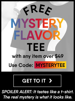Get a free Moosejaw Mystery Tee with any item over $49