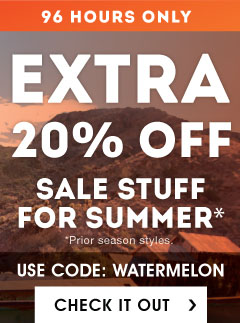 Moosejaw 96 Hour Sale. Extra 20% Off with Code WATERMELON.