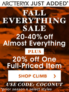 Get 20 to 40% Almost All Climbing Gear