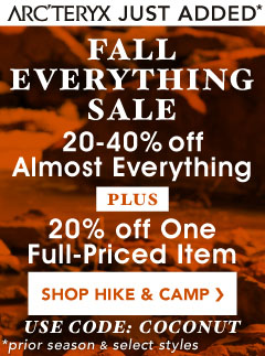 Get 20 to 40% Almost All Camping Gear