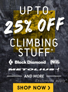Moosejaw's Climbling Sale - Up to 25% Off the Best Climbing Gear