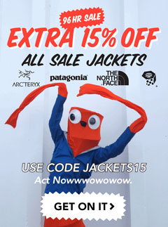 Extra 15% Off All Sale Jackets