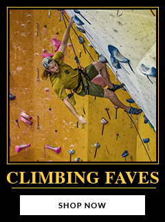 Check out our Climbing and Bouldering Faves. And never give up.