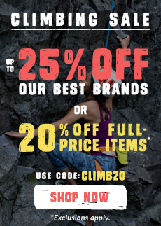 Check out our Climbing Sale use Code CLIMB20