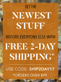 Get the Newest Stuff Before Everyone Else, and Free 2-Day Shipping