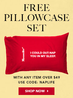 Get a Free Moosejaw Pillowcase Set with code NAPLIFE