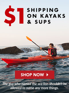 $1 Shipping on Kayaks and SUPs
