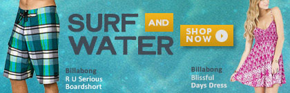 Check out surf and water gear for whenever it actually warms up