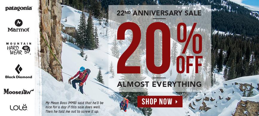 20% off Moosejaw Coupon SIGLER on this sale that runs until November 30. Learn more at http://scottsigler.com/moosejaw-coupon-codes/