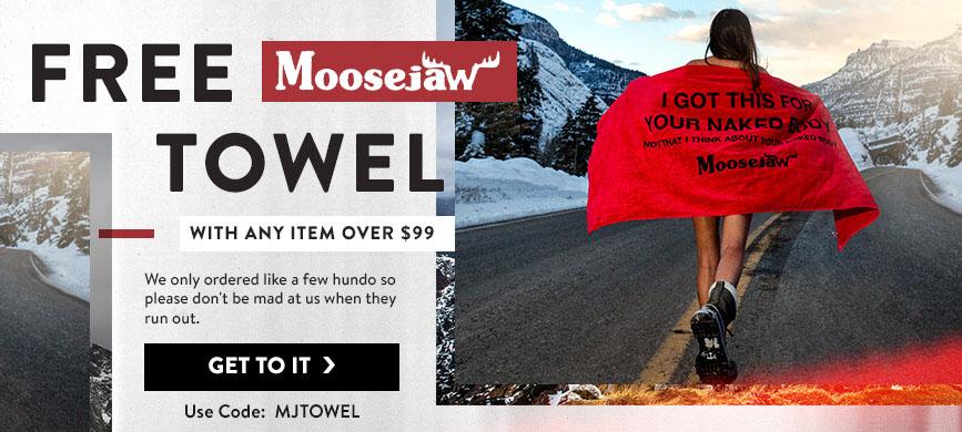 Free towel for Moosejaw Coupon at http://scottsigler.com/moosejaw-coupon-codes/