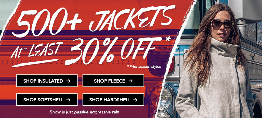 30% off Jackets February sale! Great Moosejaw Coupon offer at http://scottsigler.com/moosejaw-coupon-codes/
