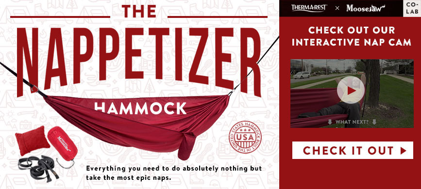 The Nappetizer Hammock Brought to You by Moosejaw and Therm-A-Rest