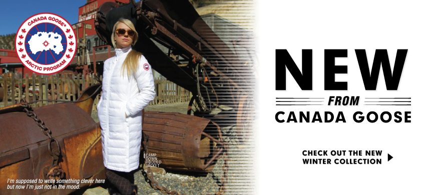Check out the newest jackets and outerwear from Canada Goose at Moosejaw