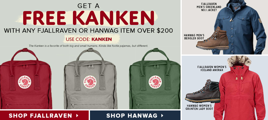 Get a Free Kanken with Any Fjallraven or Hanwag item over $200