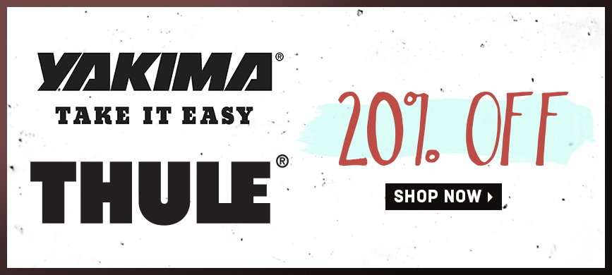 20% off Yakima and Thule