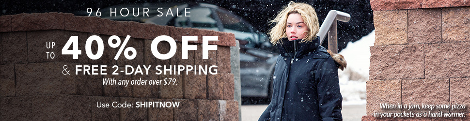 Moosejaw 96 Hour Sale - Up to 40% Off and Free 2-Day Shipping