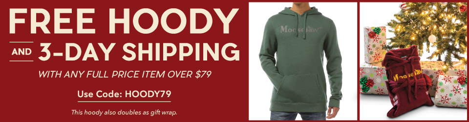 Get a Free Moosejaw Hoody with any Full Price Item Over $79