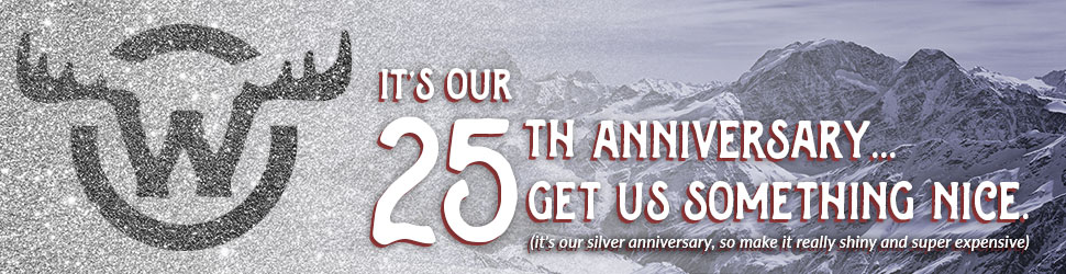 It's our 25th Anniversary.... Get us something nice.