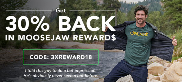Get 30% Back in Reward Dollars with code 3XREWARD18