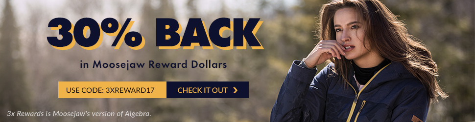Get 30% Back in Reward Dollars with code 3XREWARD17