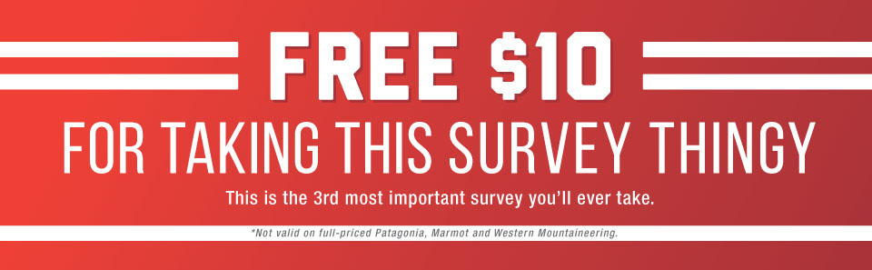 Get a FREE $10 just for taking a Moosejaw Survey Thing