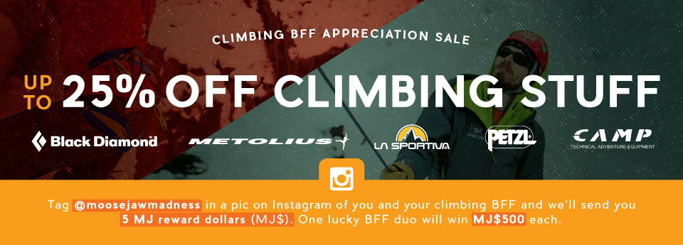 Moosejaw's Climbling BFF Appreciation Sale