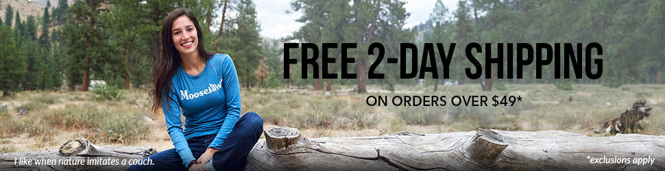 Moosejaw offers FREE 2-Day Shipping on orders over $49