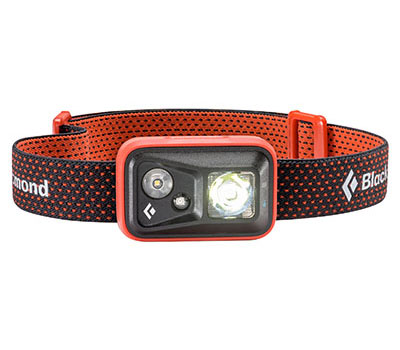 Shine on with a Black Diamond Spot Headlamp. Lighter weight and adjustable band make it great for that peaceful night run.