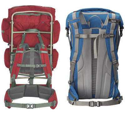 Kick it old school with an external frame pack, or shave weight on shorter trips with a frameless pack.