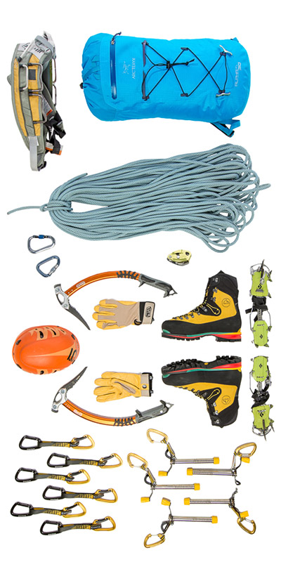 My climbing gear spread. I lay it out like this all the time.