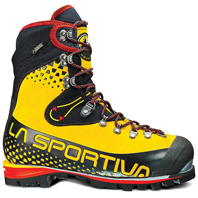 Get mountaineering boots that are compatible with your crampons, as well as warm and rugged.