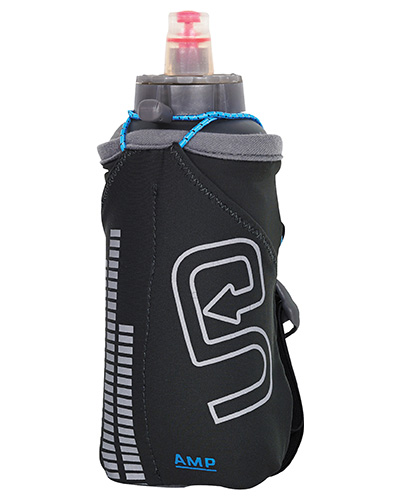 A hand held running bottle helps keep you hydrated, and can also store some of your personal essentials while you train.