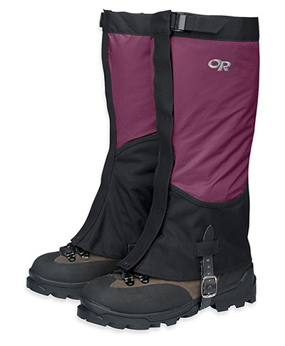 Adding some gaiters to your setup will help ensure your footwear and feet stay dry.