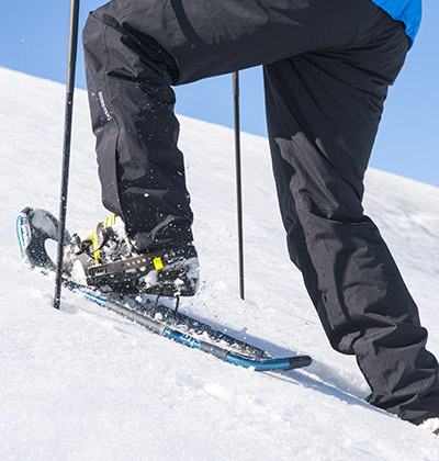 All snowshoes are not designed for steep backcountry terrains.