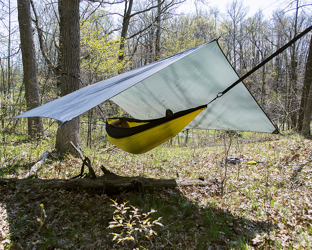 A hammock and tarp offer an alternative to camping with a tent