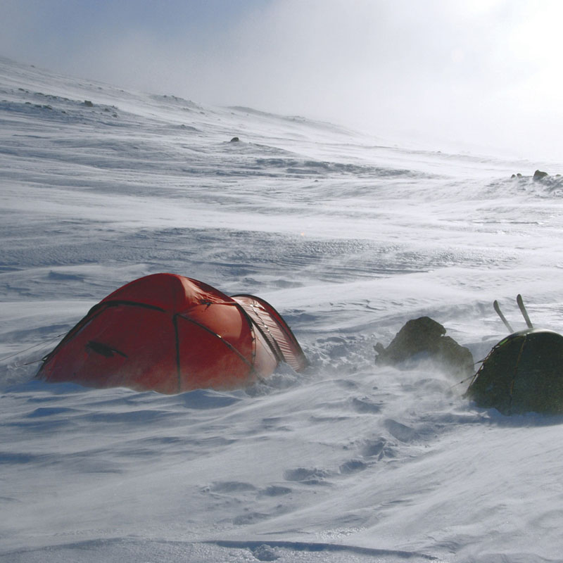Mountaineering tents offer safety and shelter in harsh conditions