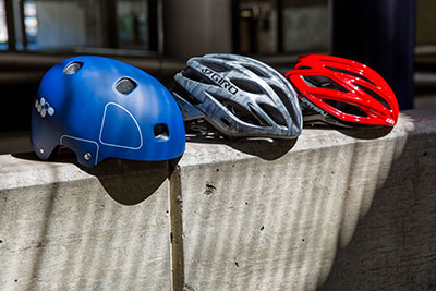 Pick a helmet that will keep your noggin safe, and do minimal damage to your hair.