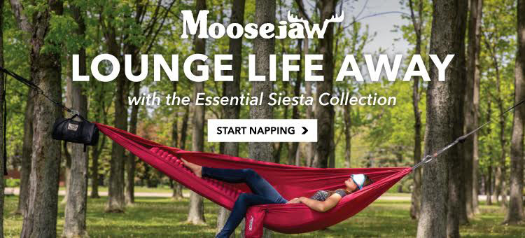 Lounge life away in the Moosejaw Siesta Collection