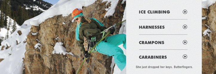 Climbing footwear, gear and clothing at Moosejaw