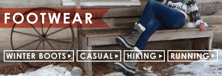 Running and hiking footwear at Moosejaw