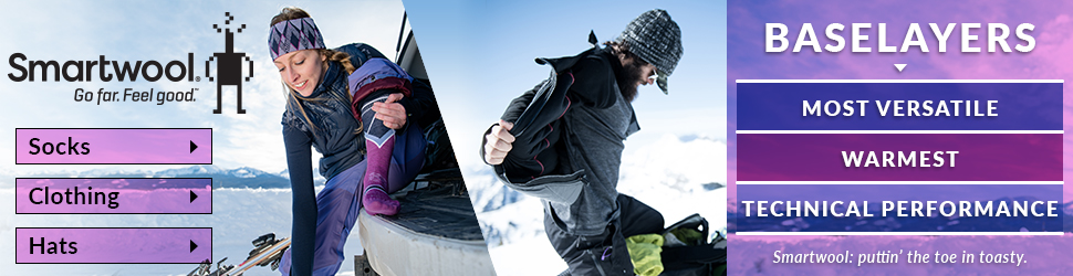 Smartwool socks, clothing and base layers at Moosejaw