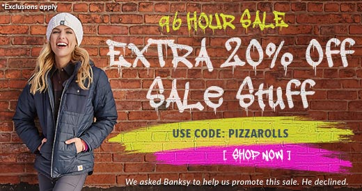 Moosejaw 96 Hour Sale - Get an Extra 20% Off Sale Stuff with Code PIZZAROLLS