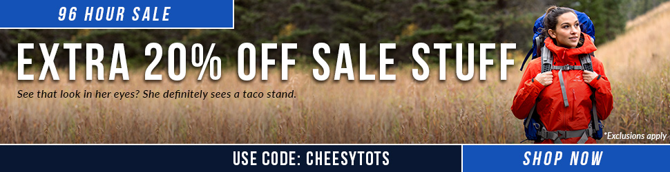 Get an Extra 20% Off Sale Stuff with Code CHEESYTOTS